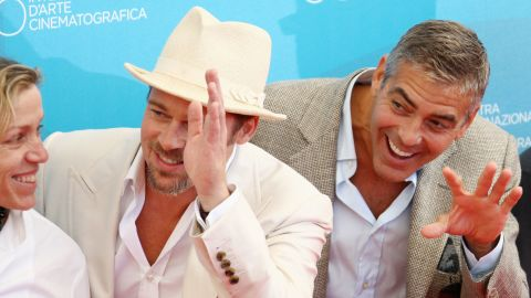 """Brad Pitt and George Clooney always seemed to<a href=""""http://www.people.com/people/article/0,,20566852,00.html"""" target=""""_blank"""" target=""""_blank""""> have a blast</a> making those """"Ocean's"""" movies, and the fun has just continued for these two. Clooney even name-dropped Pitt in his Golden Globes acceptance speech last year."""