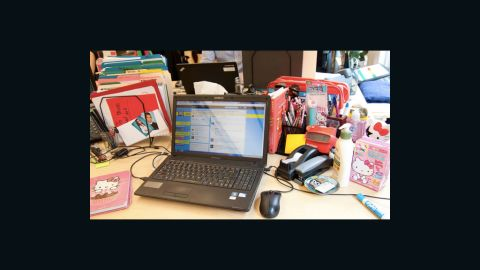 At the headquarters of DoSomething.org, which has an open office work space, CEO Nancy Lublin distinguishes her desk with a collection of Hello Kitty accessories.