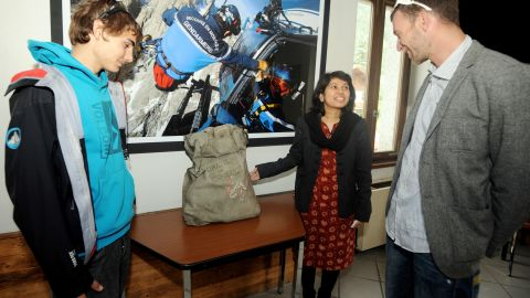 Last year, alpinists found this diplomatic bag on Mont Blanc, believed to be from a 1966 Air India crash.