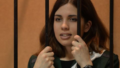 """Pussy Riot's Nadezhda Tolokonnikova was sent to a Mordovia prison last year for her part in a performance of a """"punk prayer"""" critical of Vladimir Putin."""