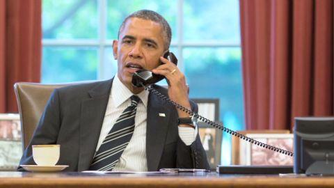 U.S. President Barack Obama spoke by telephone Friday with Iranian President Hassan Rouhani.
