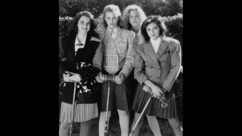 """The dark comedy """"Heathers"""" was the original """"Mean Girls."""" From left are stars Winona Ryder, Kim Walker, Lisanne Falk and Shannen Doherty."""