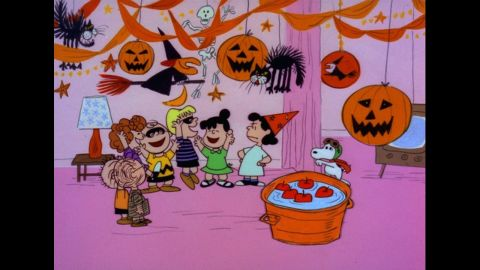 """Lucy, far right, is a killjoy who always dampens the mood of sad sack Charlie Brown in the """"Peanuts"""" cartoons."""
