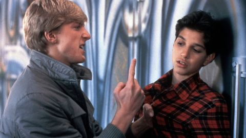 """In the classic tale of a bullied kid who fights back, """"The Karate Kid,"""" Ralph Macchio, right, is confronted by Johnny Lawrence (William Zabka), a member of the fearsome Cobra Kai dojo."""