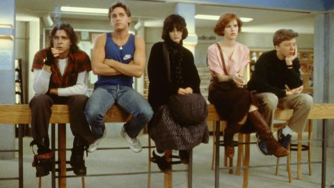 """In the '80s classic """"The Breakfast Club,"""" Judd Nelson, left, plays the tough guy to Emilio Estevez's jock, Ally Sheedy's """"basket case,"""" Molly Ringwald's popular princess and Anthony Michael Hall's nerd. It's not always clear who the bully was here."""
