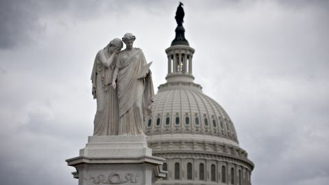 The U.S. Capitol is seen under dark clouds in Washington, Saturday, Sept. 28, 2013, with the midnight Monday deadline fast approaching for Congress to break an impasse over funding the government. Lawmakers from both parties urged one another in a rare weekend session to give ground in their fight over preventing a federal shutdown. (AP PhotoThe U.S. Capitol is seen under dark clouds in Washington, Saturday, Sept. 28, 2013, with the midnight Monday deadline fast approaching for Congress to break an impasse over funding the government. Lawmakers from both parties urged one another in a rare weekend session to give ground in their fight over preventing a federal shutdown. (AP Photo/J. Scott Applewhite))