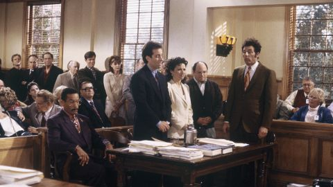 Co-creator Larry David returned to write the finale of Seinfeld, in which he decided that our four main characters were beyond help. After a trial in which many of those they wronged testified, they ended up in jail, seemingly no worse for wear.