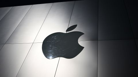 The Apple logo is displayed on the exterior of an Apple Store on April 23, 2013 in San Francisco, California.