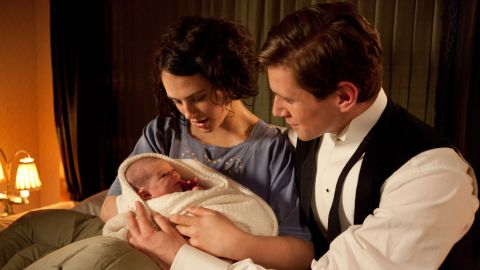 """The birth of her daughter should have been a joyous time for Lady Sybil Branson (Jessica Brown Findlay) and her husband, Tom (Allen Leech), on """"Downton Abbey,"""" but fans were shocked when tragedy struck."""