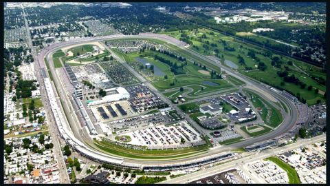 Brickyard Crossing Golf Club in Indianapolis has four holes inside the circuit that the famous Indy 500 is staged on.