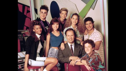 """Although """"Saved By the Bell"""" got its start in 1989, the half-hour comedy helped define a generation and is still<em> </em>popular in syndication. We don't care <a href=""""http://celebritybabies.people.com/2013/09/30/mark-paul-gosselaar-welcomes-son-dekker-edward/"""" target=""""_blank"""" target=""""_blank"""">how many kids Mark-Paul Gosselaar has</a> or <a href=""""http://remotecontrol.mtv.com/2013/09/27/mario-lopez-elizabeth-berkley-extra-saved-by-the-bell-trivia/"""" target=""""_blank"""" target=""""_blank"""">how many hosting gigs Mario Lopez picks up</a>, they're both eternally Zack and Slater to us. (Same goes for you, Elizabeth """"I'm so excited!"""" Berkley.)"""