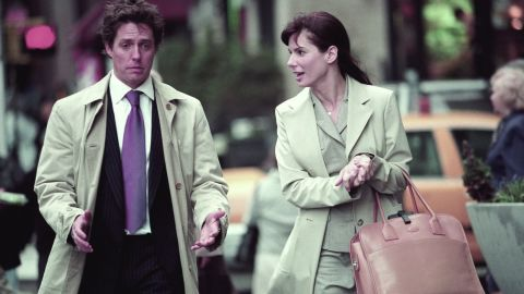 """Hugh Grant and the actress have chemistry in 2002's """"Two Weeks Notice."""""""