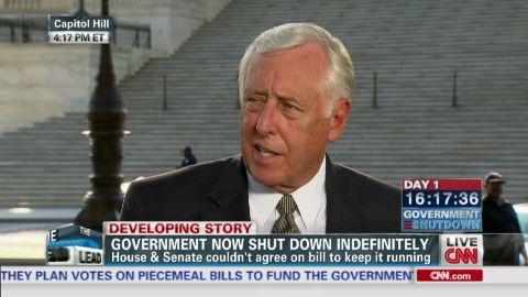 exp lead intv Rep Steny Hoyer Obamacare government shutdown_00010527.jpg
