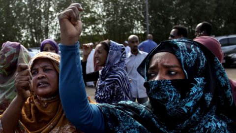 Protests over subsidy cuts on fuel and food are erupted in Khartoum, Sudan on Saturday, September 28.