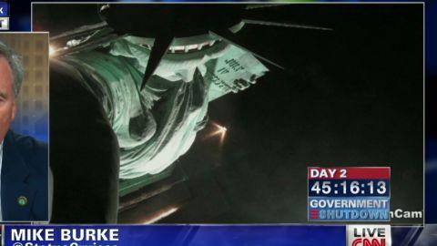 exp pmt mike burke statue of liberty government shutdown_00005701.jpg