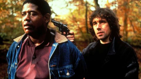 """In<strong> </strong>""""The Crying Game""""<strong> </strong>(1992), an IRA soldier (Stephen Rea, right, with Forest Whitaker) falls in love with a prisoner's girlfriend. Or is that the prisoner's boyfriend? Jaye Davidson was nominated for an Oscar for best supporting actor for his gender-bending performance."""