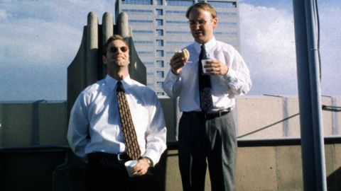 """Chad and Howard (Aaron Eckhart, left, and Matt Malloy) come up with a plan to break the heart of a deaf woman by dating her and then splitting with her in<strong> </strong>""""In the Company of Men"""" (1997). But it's Howard who ends up broken, blindsided by Chad's coldheartedness. Neil LaBute wrote and directed."""