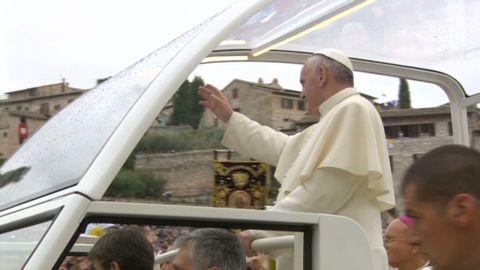 pope francis takes charge pkg wedeman_00001311.jpg