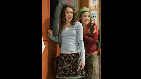 """Cyrus starred with Emily Osmand in an episode of """"Hannah Montana"""" in June 2007."""