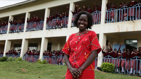 """<a href=""""http://www.cnn.com/SPECIALS/cnn.heroes/2013.heroes/kakenya.ntaiya.html"""">Kakenya Ntaiya</a> is inspiring change in her native Kenyan village. After becoming the first woman in the village to attend college in the United States, she returned to open the village's first primary school for girls. """"Our work is about empowering the girls,"""" Ntaiya said. """"They are dreaming of becoming lawyers, teachers, doctors."""""""