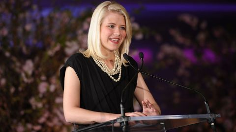 Elizabeth Smart addresses the 2nd Annual Diller-von Furstenberg Awards at the United Nations in New York City in March 2011.