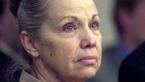 Wanda Barzee listens to her attorney speaking on her behalf at her hearing in January 2004 in Salt Lake City.