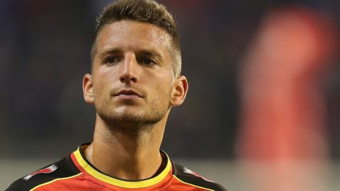 """Napoli forward Dries Mertens (left) is one of the Belgium players to have worked under """"brain coach"""" Michel Bruyninckx in the early stages of his career. The 26-year-old earned a move to Italy after impressing with Dutch club PSV Eindhoven last season."""