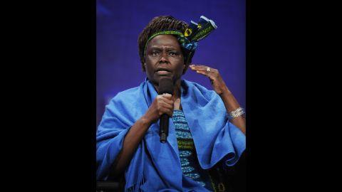 Wangari Muta Maathai, founder of the Green Belt Movement, Kenya, won the Nobel Peace Prize in 2004.
