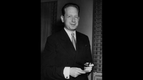 Dag Hammarskjold, Swedish politician and the second U.N. secretary general, won the Nobel Peace Prize in 1961.