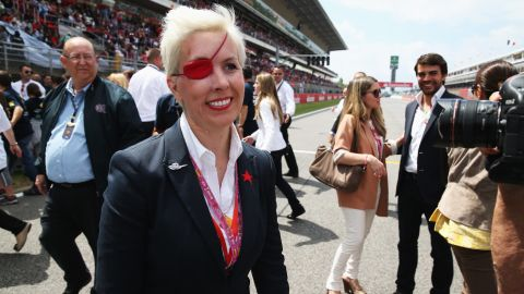 Former Formula One test driver Maria de Villota pictured ahead of the 2013 Spanish Grand Prix.
