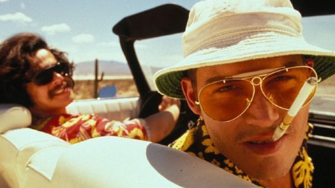 """<strong>""""Fear and Loathing in Las Vegas"""": </strong>Terry Gilliam's 1998 movie adaptation, gamely acted by Benicio del Toro and Johnny Depp, did its best to capture the gonzo spirit of Hunter S. Thompson's 1971 novel."""
