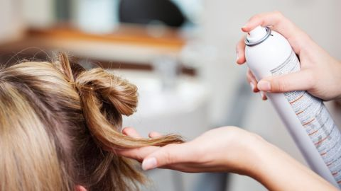 """<strong>Hair spray: </strong>Phthalates are also used in hair spray to help avoid stiffness; phthalates allow the spray to form a flexible film on the hair, <a href=""""http://www.fda.gov/Cosmetics/ProductandIngredientSafety/SelectedCosmeticIngredients/ucm128250.htm"""" target=""""_blank"""" target=""""_blank"""">according to the FDA.</a>"""