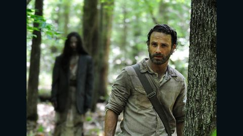 """Rick Grimes (Andrew Lincoln) in Episode 1 of season 4 of """"The Walking Dead."""""""