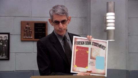 """""""Arrested Development"""" gets a visit from Munch in 2006 on an episode called """"Exit Strategy."""" This time, he played<em> Professor</em> Munch, who taught a scrapbooking class as a cover to get information out of Tobias (David Cross)."""