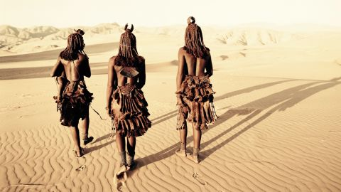 """Nelson said the most pleasant trip was visiting the Namibian Himba. """"The aesthetic of their body, of their dress, of their dance and of their movement I find extraordinary and very few of us will ever look as beautiful as them,"""" he says."""
