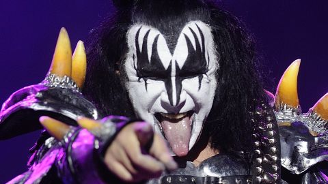 Gene Simmons of KISS performs in France