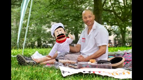 """""""Just to let you know, I'm out here promoting my company. I know you wanted my photo because you thought I was a grown-ass man sitting around with a puppet."""""""
