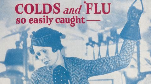 """Cold and flu remedies get passed down from generation to generation. Sometimes the cure-all is chicken noodle soup, sometimes it's a liquid with a bit more, well, kick. The Cephos Company advertised a powder as a remedy for <a href=""""http://www.sciencemuseum.org.uk/broughttolife/objects/display.aspx?id=93045&image=3"""" target=""""_blank"""" target=""""_blank"""">headaches, colds and cases of the nerves</a>. Each packet contained caffeine and aspirin, to be dissolved in water."""