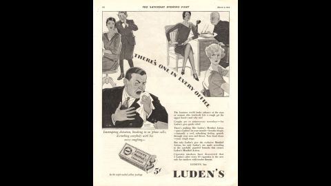 """In the 1930s, Luden's advertised their cough tablets as """"quick relief"""" for annoying hacking. Luden's is <a href=""""http://ludens.com/en/Products.aspx"""" target=""""_blank"""" target=""""_blank"""">still a cold remedy company</a>, although their drops are now marketed to soothe sore throats."""