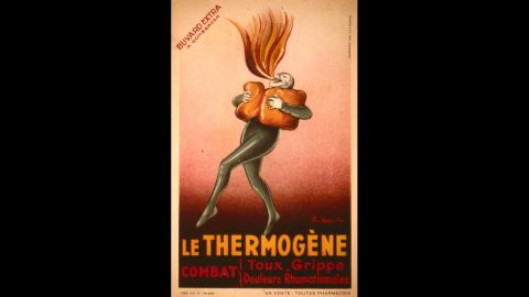 """<a href=""""http://www.philamuseum.org/collections/permanent/199889.html?mulR=1658"""" target=""""_blank"""" target=""""_blank"""">Le Thermogene</a> was a popular European remedy designed to treat coughs, the flu and rheumatic pains. The cotton wadding was treated with capsicum, a type of plant that creates heat when applied to the body."""