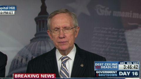 live Harry Reid weighs in after Senate vote on shutdown_00002527.jpg