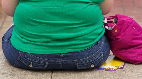 Summer time, women on streets with over weight and obesity issues.