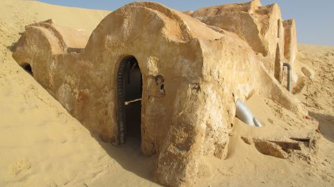 Tourists need to act fast, if they want to see the set before it is covered by sand.