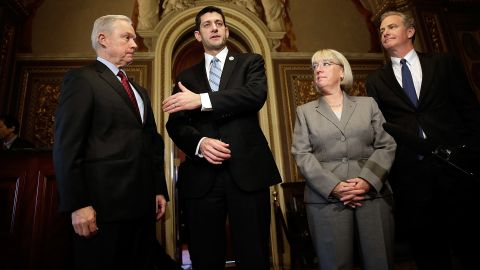 The four top congressional leaders on budget issues met Thursday morning on Capitol Hill.