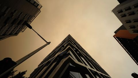 Smoke fills the sky over Sydney on October 17.