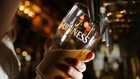 Clocks in pubs around the world count down every year to February 13 for the Great Guinness Toast, in which beer drinkers annually try to break the record for the largest toast.