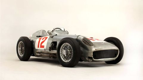 This 1954 Mercedes-Benz W196 sold at auction for $30 million in England. It was part of a group of race cars that won nine of 12 Forrmula 1 World Championship-qualifying races during 1954 and 1955 and was driven by Juan Manuel Fangio.