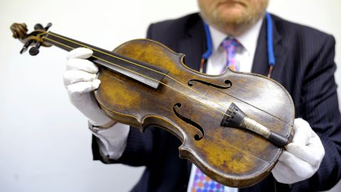 """Titanic band leader Wallace Hartley's violin sold for $1.7 million at Henry Aldridge and Son Auctioneers in Devizes, England -- by far the highest ever fetched for memorabilia tied to the <a href=""""http://www.cnn.com/2013/10/19/world/europe/titanic-violin-auction/"""" target=""""_blank"""">sunken passenger ship</a>."""