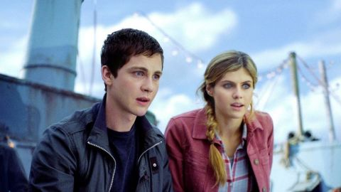 """The first """"Percy Jackson"""" adaptation, based on Rick Riordan's popular series, came out in 2010, and fans were struck by serious deviations from the original plot and even the hair color change for a main character, Annabeth. """"Percy Jackson: Sea of Monsters"""" continued the franchise in summer 2013 and gave Annabeth (Alexandra Daddario, here with Logan Lerman as Percy) back her original blonde hair."""