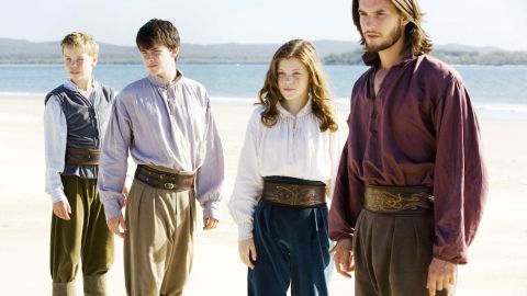 """C.S. Lewis' famous series hit the big screen with """"The Lion, The Witch and the Wardrobe"""" in 2005. The franchise continued with """"Prince Caspian"""" in 2008 and """"The Voyage of the Dawn Treader"""" (pictured) in 2010. """"The Silver Chair"""" has been announced, but there is no release date. Fans had mixed reactions to the films. The first movie grossed $291 million, while the third only netted $104 million. From left, Will Poulter, Skandar Keynes, Georgie Henley and Ben Barnes."""